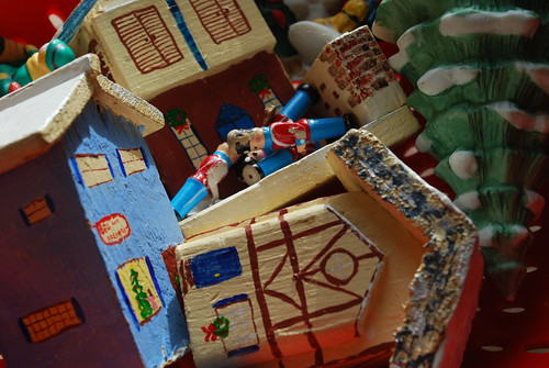 Natural disaster hits the Christmas village