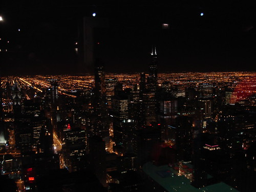 John Hancock view at night