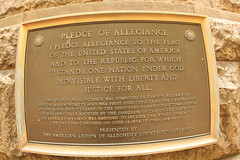 Pledge of Allegiance plaque
