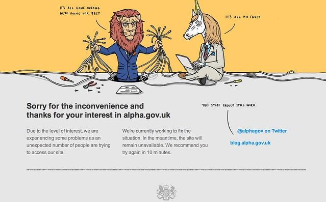 Alpha.gov 404 error page