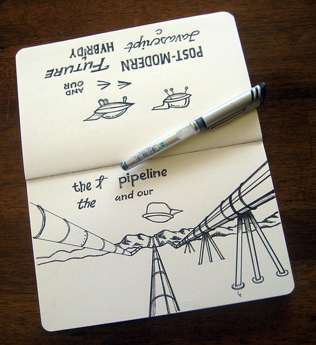 Pipeline Moleskine Inked Illustrations