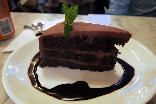 Chocolate Cake. So wrong to have dessert... but so right!