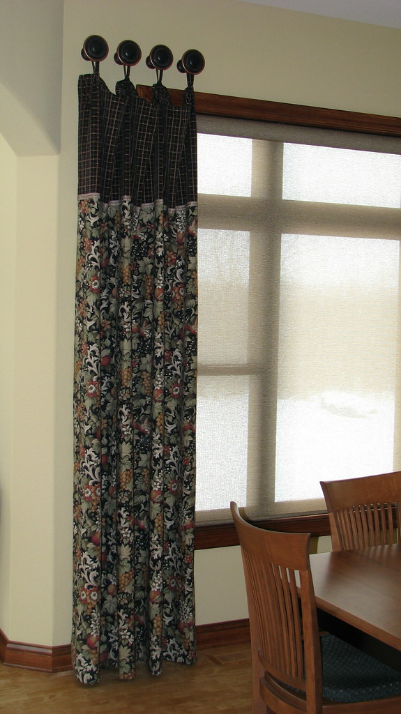 Stationary Peg Panels with Designer Screen Shade From Hunter Douglas