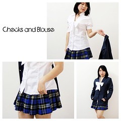 Checks and Blouse (AmieY1) Tags: blouse clothes skirts checks