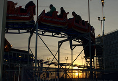 Roller Coaster at sunset, Liverpool (Tony Worrall) Tags: liverpool merseyside mersey scouse england northern uk update place location north visit area county attraction open stream tour country welovethenorth northwest unitedkingdom sunset roller kids rides fun rollercoaster ride outline