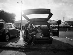 Pizza Wagon (scott.little) Tags: film pentax67 mediumformat newzealand auckland kids brothers blackwhite monochrome naturallight life pointofview 120format