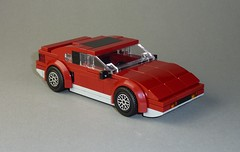 Pontiac Fiero GT (MOCs & Stuff) Tags: lego city town pontiac fiero gt 80s sports car gm