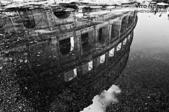 riflesso (vito.nobile) Tags: riflesso pozzanghera acqua colosseo roma rome rom italia italiy bn bw monocromatico monocromo