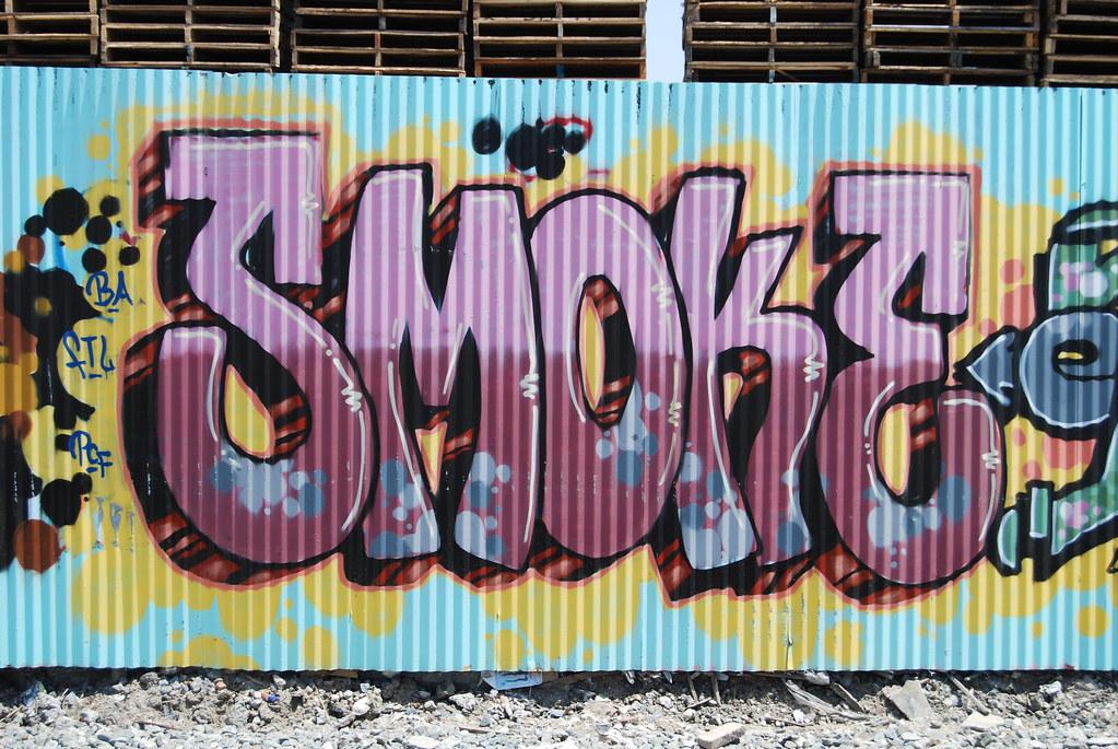 Graffiti smoke effect
