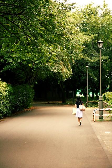 キャンパスの小道