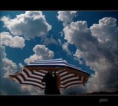 same stuff (gicol) Tags: sea vacation sky italy beach azul clouds italia nuvole mare blu stripes playa parasol cielo salento puglia spiaggia vacanze righe ombrellone blueribbonwinner torresangennaro