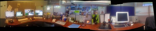Super panorama of my cube at work (public version)