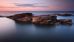 Rocky Island (Alistair Bennett) Tags: longexposure sunset seascape coast rocks northumberland polarizer seatonsluice nd12 rockyisland canonefs1022 gnd06he