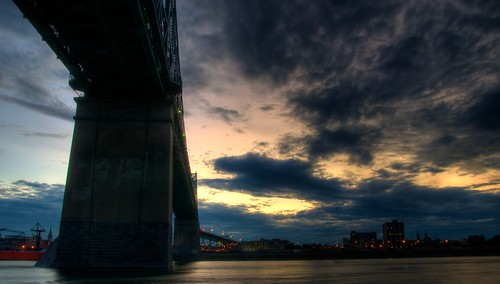 Under the Bridge looking at Montreal in HDR #1