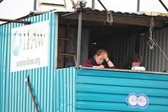 Sasha, a russian grad student observes belugas in IFAW