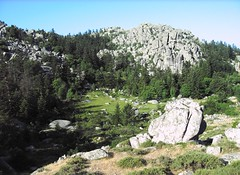 Départ d'Apaseu vers Bocca di Funtanella : plateau et chaos d'Apaseu