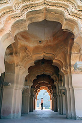 Lotus Mehal-7 (sanmang610) Tags: old travel red sky india building heritage tourism vertical architecture landscape asia lotus mahal grand arches landmark palace structure historical karnataka attraction hampi