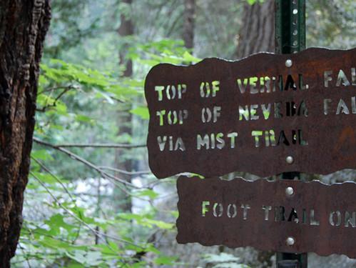 vernal falls sign