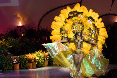 Miss Bahamas 2009 Kiara Sherman performs in the National Costume show