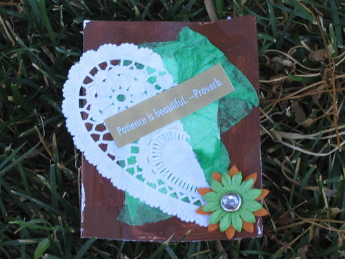 Patience is Beautiful ACEO/Affirmation Card