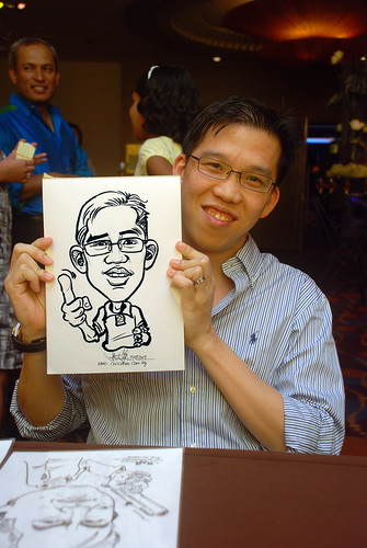 Caricature live sketching for Standard Chartered Bank - 8