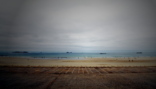 photo de la plage du Sillon, à Saint- Malo