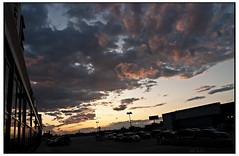 Joyous Overflow (swanksalot) Tags: sunset cloud sunlight chicago clouds parkinglot westloop swanksalot sethanderson