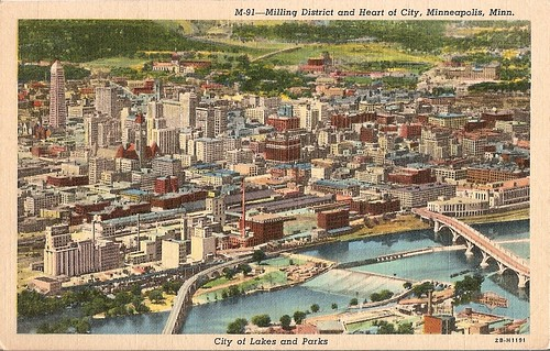 Vintage Minneapolis Skyline Postcard
