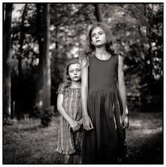 . (Michael Drr) Tags: portrait people blackandwhite 120 6x6 film monochrome analog portraits mediumformat children square kodak d76 portraiture sw 80mm kodaktmax100 melancholie mittelformat artlibres