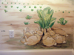 Beatrix Potter nursery mural -bunnygroup2 (twisted.textiles) Tags: bunnies painting children mural interior illustrated nursery potter beatrixpotter beatrix
