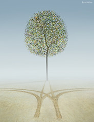 Eden (Ben Heine) Tags: life wallpaper tree green beach nature beauty leaves car fog print poster leaf seaside sand heaven track god earth path great creative tracks trace sable poetic boom digitalpainting creation silence montage sin trunk lonely eden ideas fragile arbre depth brouillard chemin imagen paradis brume invention vie dieu feuille adamandeve ecosystem meaningoflife vide environnement seul tronc highres humancondition marque fullquality hauteur prolific profondeur metaphore ides betterplace benheine peinturenumrique polllution conceptualphoto pchoriginel hubertlebizay hubzay infotheartisterycom