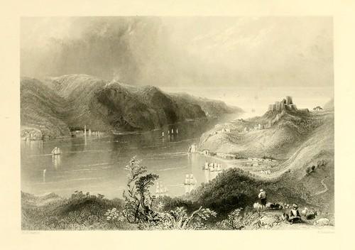 019- Entrada al Mar Negro-Las bellezas del Bosforo 1838-W.H. Bartlett