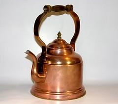 Vintage Copper Tea Kettle with wood Handle (fishbonedeco) Tags: old kitchen metal vintage tea kettle copper teapot collectible homedecor houseware