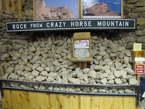 Crazy Horse lets you take 6 lb rocks for $1