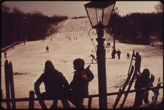The Great Blue Hill Ski Slopes Are 10 Miles from the Center of Boston    021973 by The US National Archives