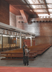 st brides - visitors, gillespie kidd & coia, glasgow architecture, catholic church, glasgow architects (abbozzo) Tags: uk scotland glasgow modernarchitecture gkc architecturaldesign stbrides gillespiekiddcoia abbozzo isimetzstein andymacmillan abbozzoarchitects architectsinglasgow stbrideseastkilbride