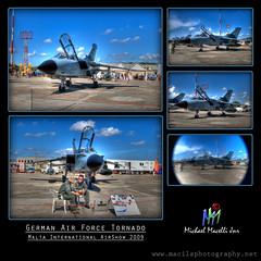German AirForce Tornado (Macills) Tags: germany aviation tornado hdr airshows d60 cokin nikond60 macelli maltainternationalairport militaryfighters maltaairshow2009