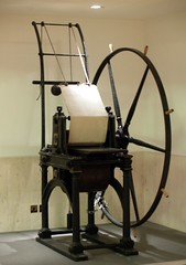 Penny Black Printing Press in a British Library Hallway (London, England)