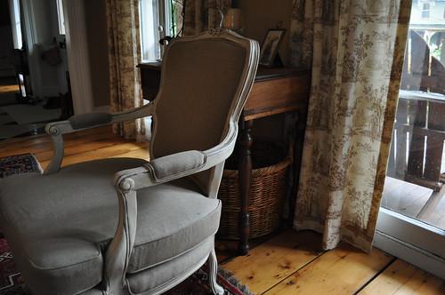 Side Chair in Linen