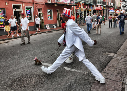 Bourbon Street Human Statue - New Orlean by Beadmobile, on Flickr