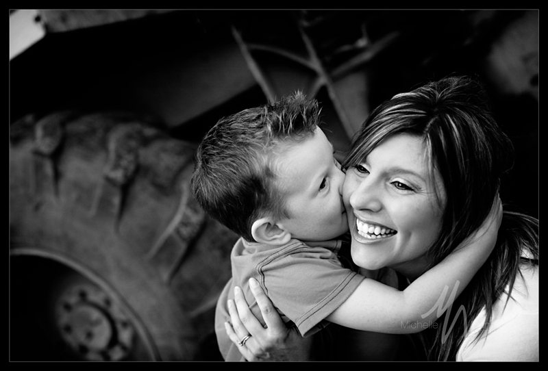 Mom & Michael 1 bw blog