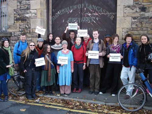 Mitchells Brewery Protestors