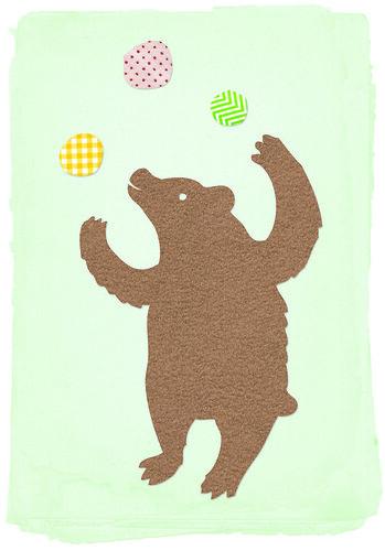 juggling bear