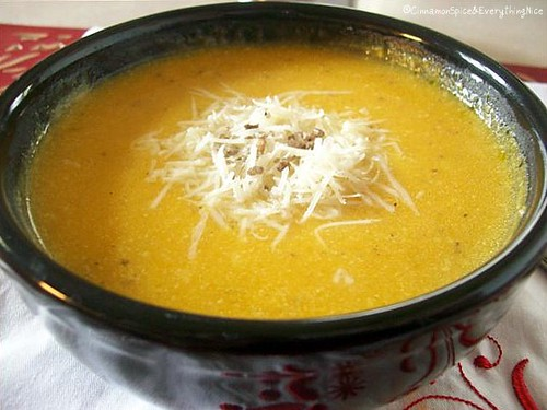 Roasted Garlic & Butternut Parmesan Soup