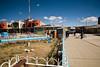 Crucero, permier village en aval de la mine. Ici, les conditions de vie se dégradent au fil du temps, à mesure que l'exploitation minière, et sa contamination augmentent (Crucero, Puno, Pérou, août 2009)