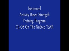 C5 C6 Spinal Cord Injury On The NuStep (Neuroxcel) Tags: training cord injury stroke therapy sci physical spinal paralysis gait paralyzed neuroxcel neuroxcel's