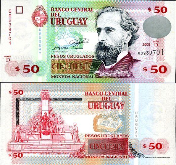 50 Pesos Uruguayos Uruguay 2008