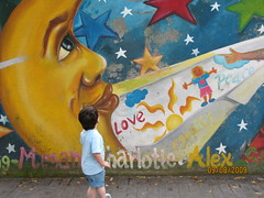 Mural on the Mardyke, Cork (Katherine Burg) Tags: street ireland moon colour art canon is mural child cork sx200 mardyks