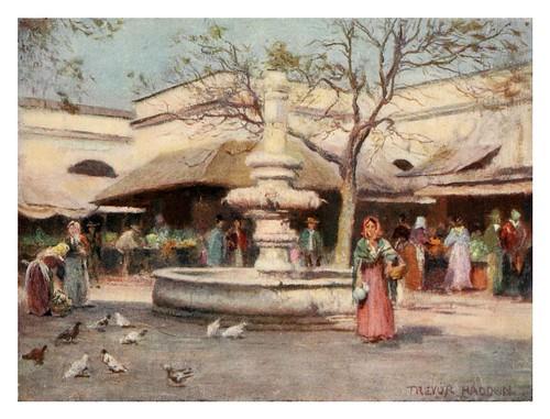 010-Sevilla la plaza del mercado-Southern Spain 1908- Trevor Haddon