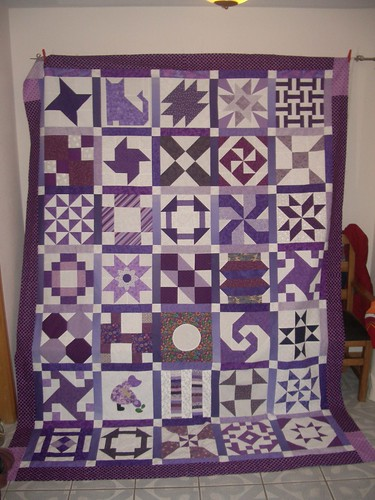 Purple and White Quilt - Unquilted